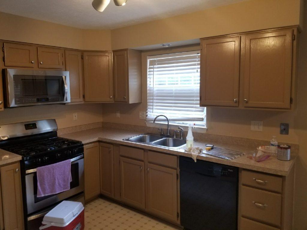 kitchen remodel gwynn oak md - before